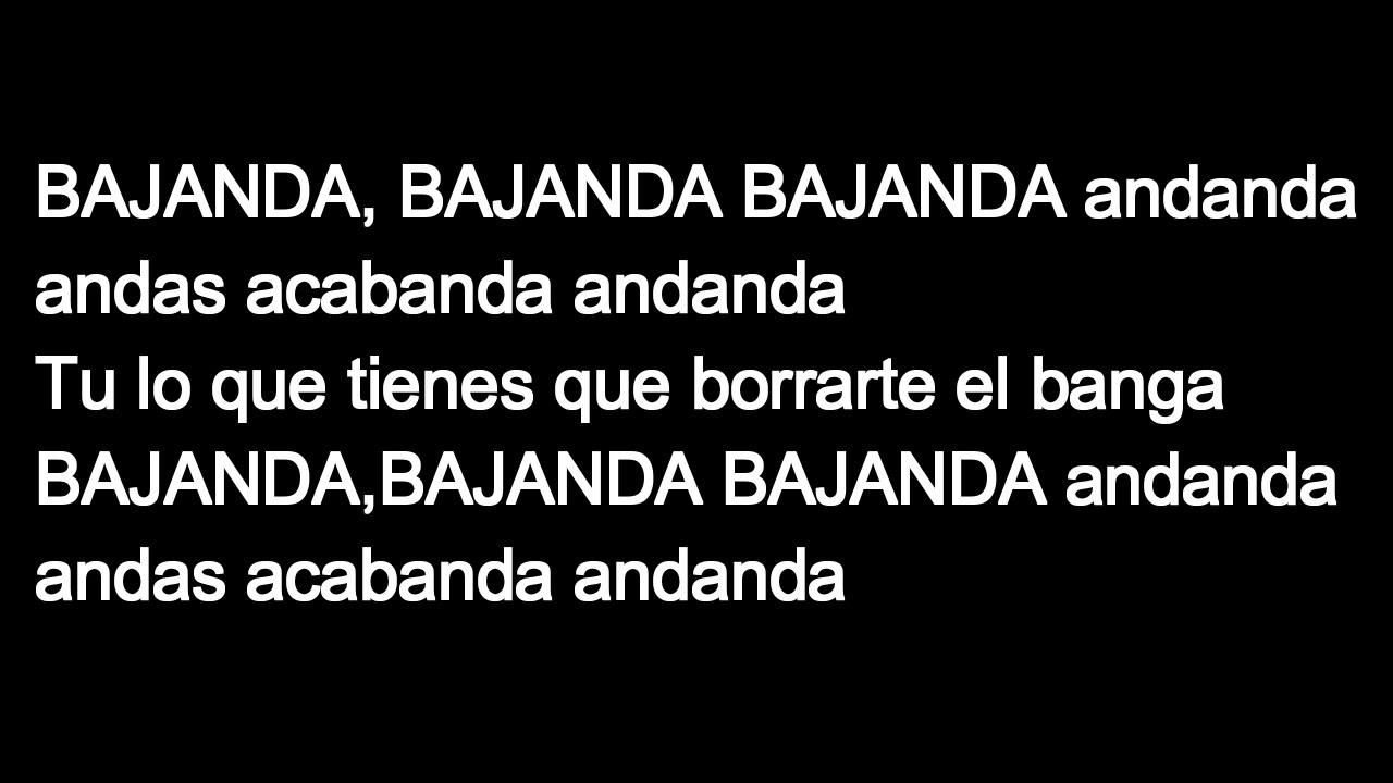 Chocolate-Bajanda (letra CUBANALETRAS) - YouTube