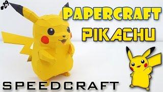 Papercraft - Pikachu - Le SpeedCraft de la réalisation !