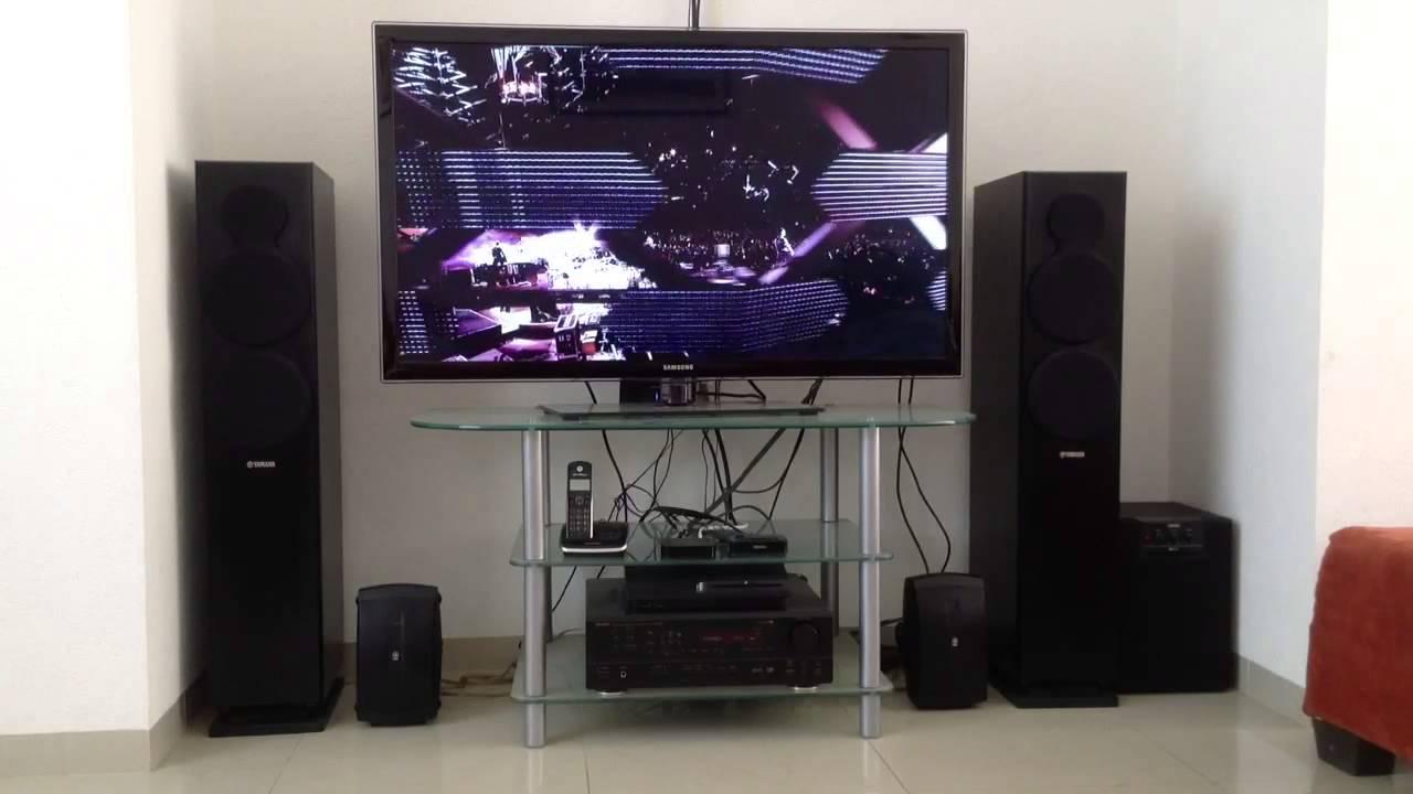U2 vertigo denon yamaha youtube for Yamaha ns sw40 price
