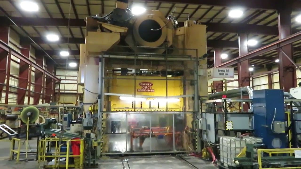 1600 Ton Danly Straight Side Stamping Press
