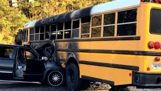Hero Driver Saves Kids From School Bus After Fiery Crash