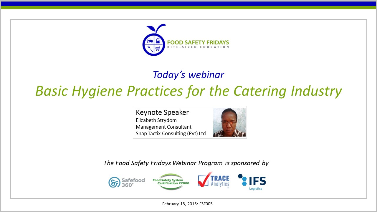 basic hygiene practices for the catering industry basic hygiene practices for the catering industry