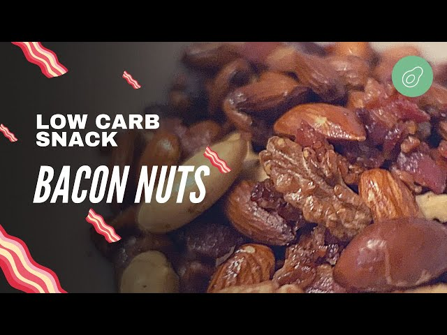 Easy Low Carb Snacks: Bacon Nuts
