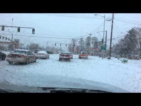 Salem Oregón .... nieve