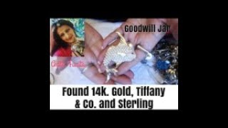 Goodwill Jewelry Jar- Tiffany & CO. 14K gold, 925 Sterling, 925 , brooches, rings  more Unicorn