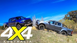 2018 Ford Ranger Raptor vs HSV Colorado SportsCat comparison review | 4X4 Australia