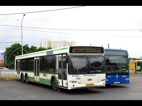 Поездка на автобусе МАЗ-107.466 №041042 №731 м.Выхино-138-й кв. Выхина