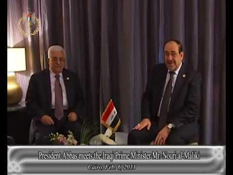 President Abbas meets the Iraqi Prime Minister Mr. Nouri al-Maliki