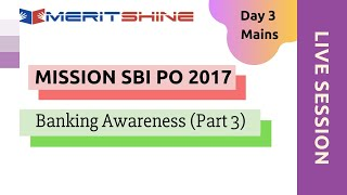 Banking Awareness Part -3 | SBI PO 2017 Online Classes #DAY 3 Mains