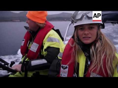 On patrol with Sea Watch volunteers off Lesbos