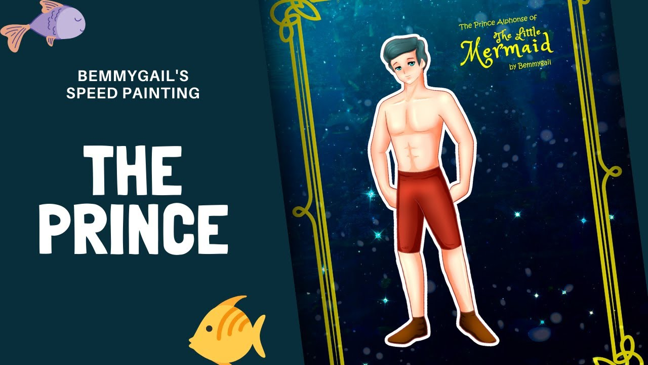 The Little Mermaid's Prince Speed Painting Paper Doll by Bemmygail Creative Studio