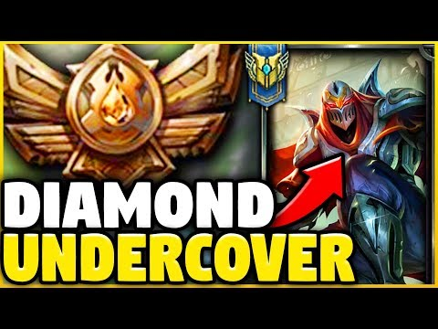 PRETENDING TO BE A BRONZE ZED MAIN WHILE BEING COACHED! ** THE COACH RAGE QUITS!