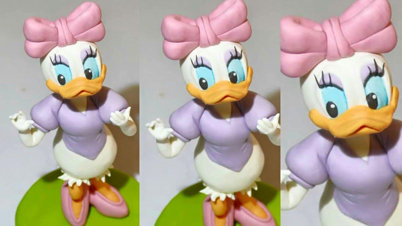 Tutorial Daisy Duck Fondant Cake Topper Paperina Pasta Di
