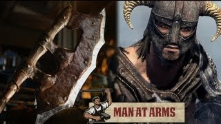 Orcish Battleaxe (skyrim)   Man At Arms