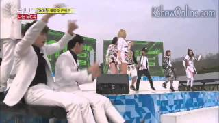 engsub 2ne1 gary and kjk opening dance   running man ep 195