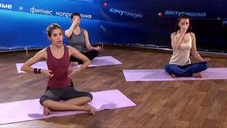 ЙОГАТЕРАПИЯ урок 4 - гимнастика для позвоночника, суставов и мышц! Тренер Арина Ольваник!