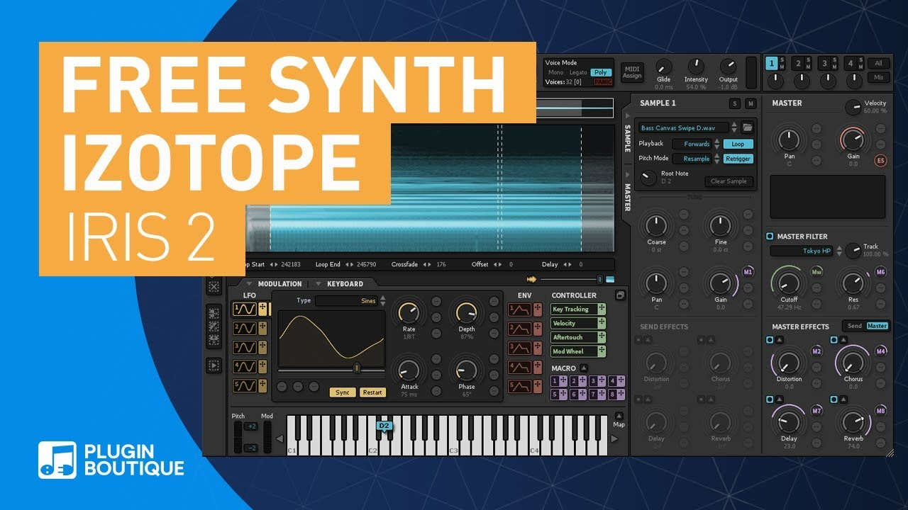 FREE SYNTH   Iris 2 by iZotope   Sample Based Synth   Spectral Shaping   VSTi Plugin