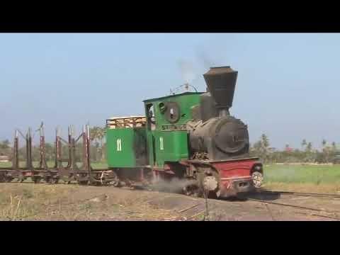 Sugar cane Steam. Java, Indonesia railways.