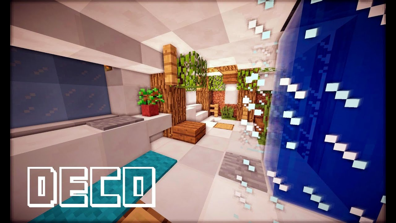 MINECRAFT : CREER UNE SALLE DE BAIN - YouTube