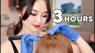 [ASMR] Sleep Recovery ~ 3 Hours of Hair Treatments
