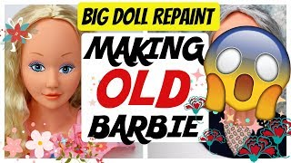 MAKE YOUR BARBIE DOLL OLD! / HOW TO DRAW OLD FACE / DOLLS MAKEUP TUTORIAL / SPEEDPAINT #art #dolls