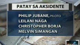 Saksi: Plane crash sa Nueva Vizcaya na ikinasawi ng piloto at 3 sakay, iniimbestigahan