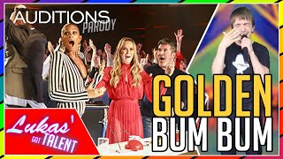 Cover images OMG! LOOK WHAT HE MADE JUDGES DO! | America's Got Talent/Britain's Got Talent GOLDEN BUZZER (parody)