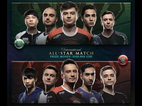 All Star Match TI7 The International 2017 by Time 2 Dota #dota2 #ti7