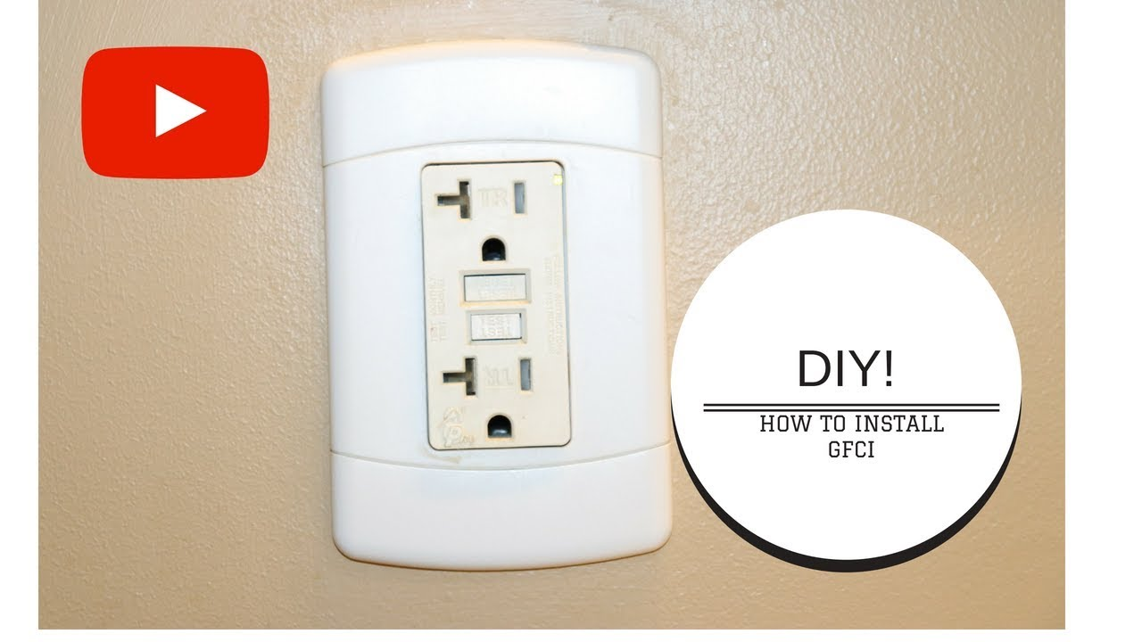 Diy How To Install A Gfci Outlet Youtube Wiring