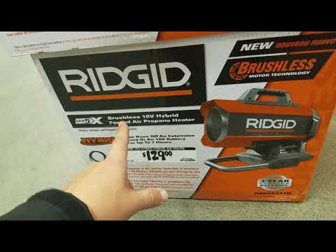 Ridgid 18 Volt Hybrid Forced Air Heater Review And Inst