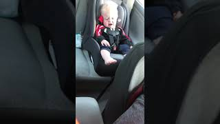BABY JONAH TRYING TO SLEEP IN CAR