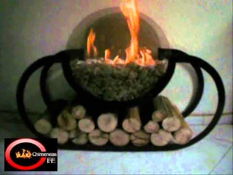 chimenea portatil bioetanol