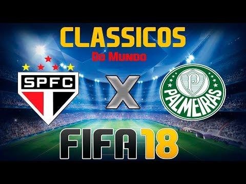 FIFA 18 - CLÁSSICOS MUNDIAIS - São Paulo x Palmeiras #EAatualizaMeuTime