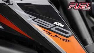 KTM 790 Duke Decat System and Aftermarket Exhaust. OEM Stock Silencer vs Fuel Exhausts Diablo.