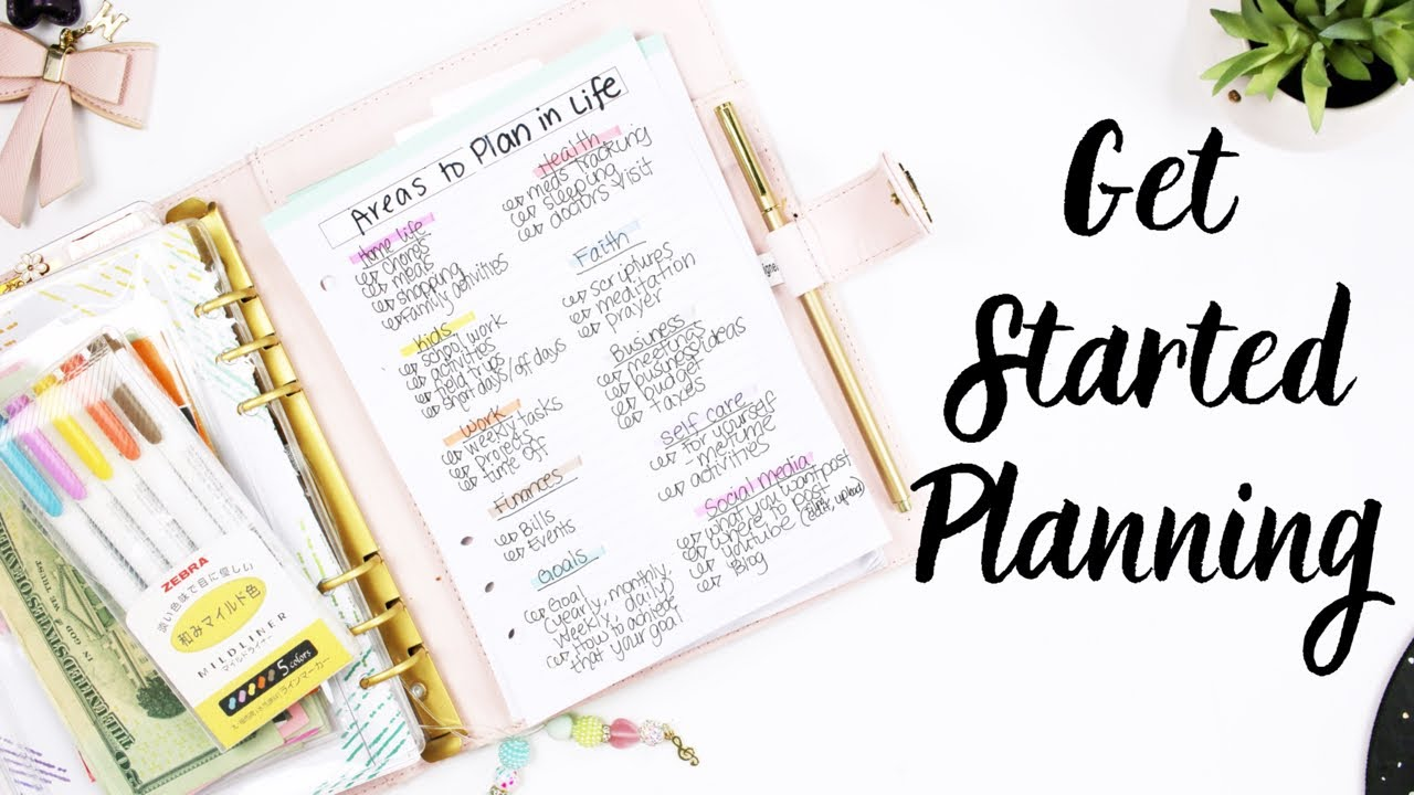 How To Plan: Areas In Your Life That Need A Plan
