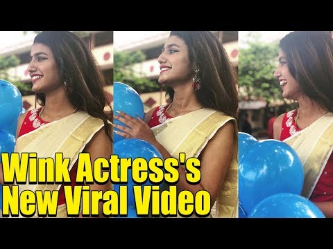 Priya Prakash Varrier NEW SAREE LOOK will make you Fall in Love with her   Wink Girl New Viral Video