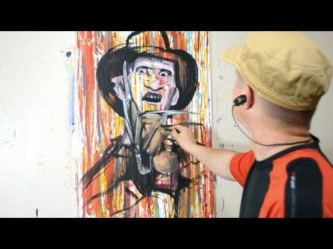 Painting Freddy Krueger in a Cool Contemporary Art Style