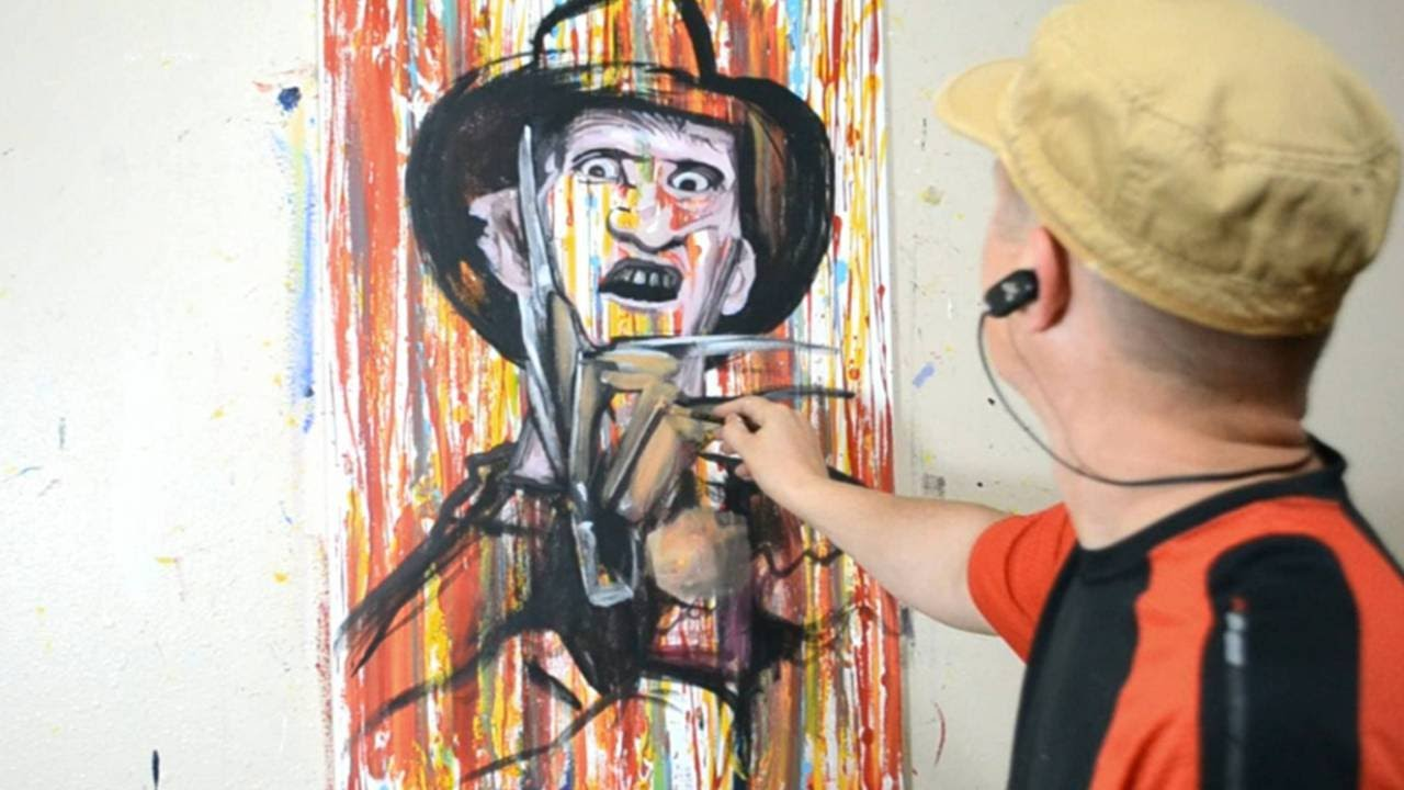 Painting freddy krueger in a cool contemporary art style for Modern drawing styles
