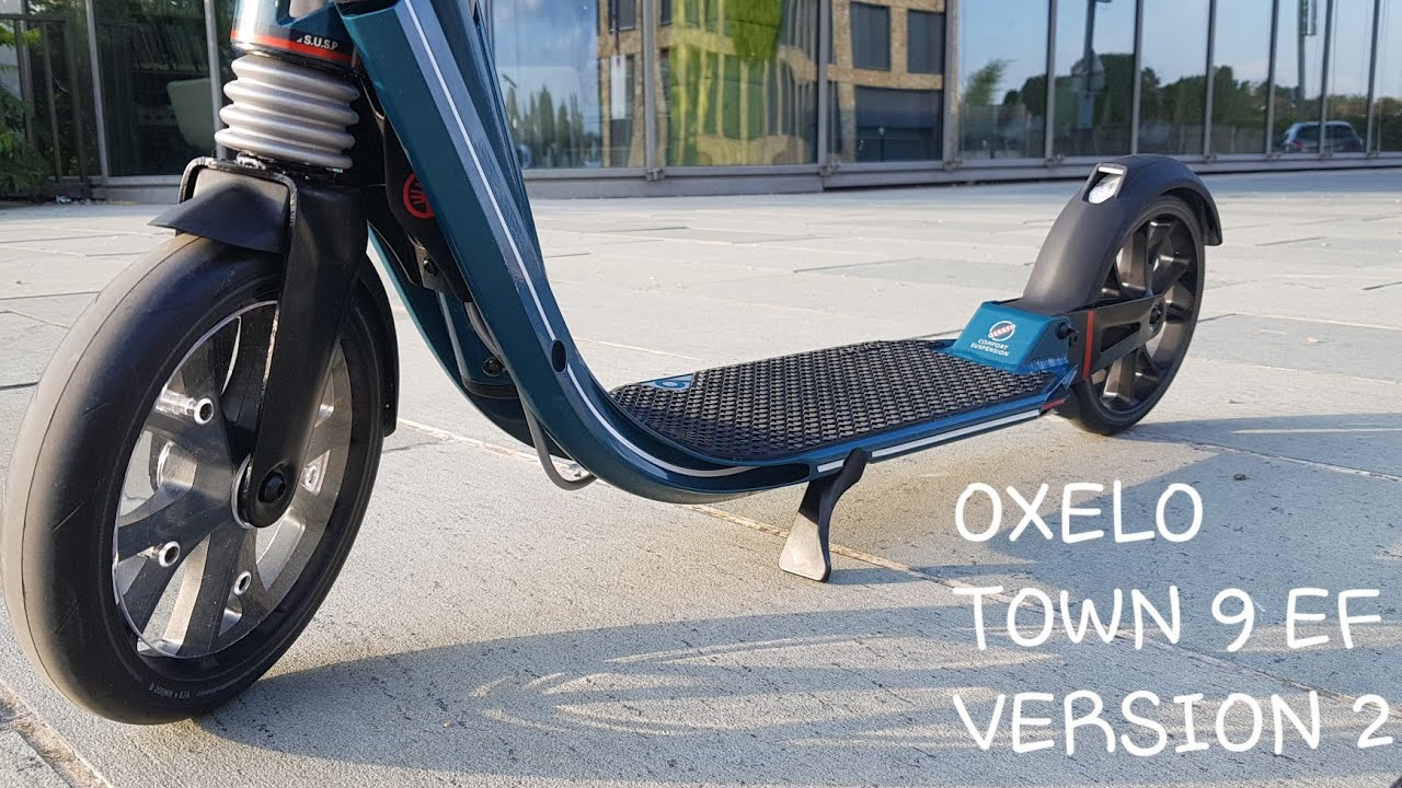 06f86517e Test OXELO TOWN 9 EF V2 trottinette pour adultes by Decathlon - YouTube
