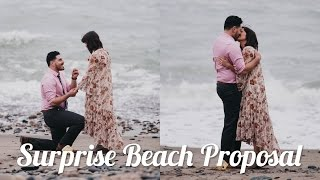 THE MOST ROMANTIC WEDDING PROPOSAL ON THE BEACH! - Eric + Dani Engagement