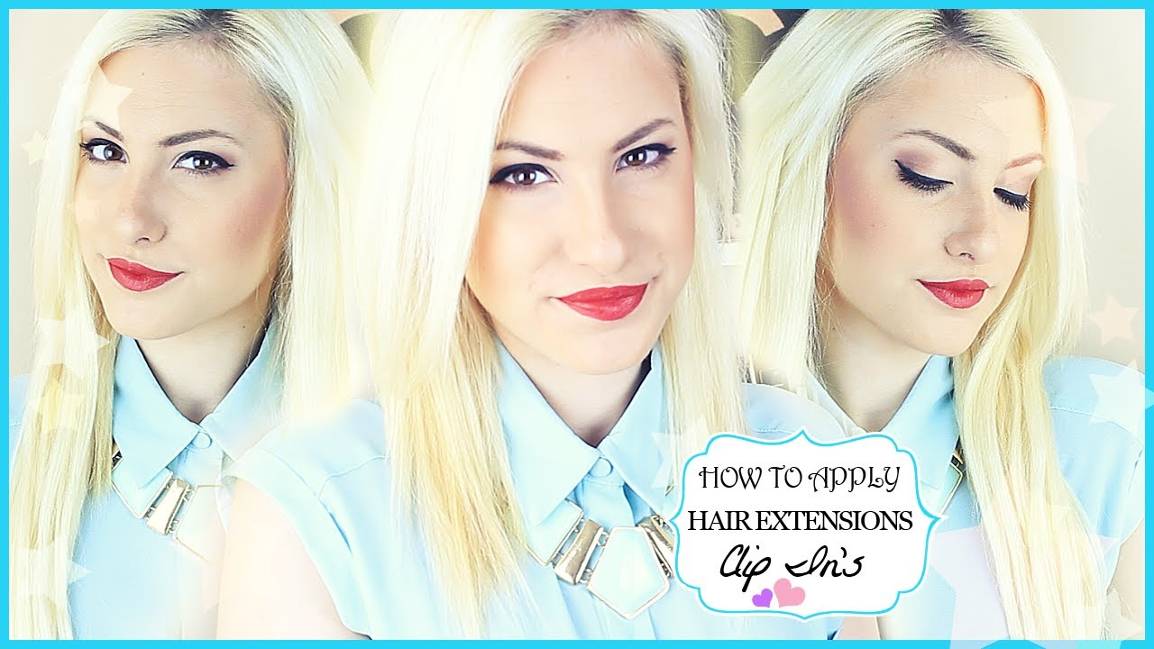 How to clip in hair extensions for short mid length hair ft halo how to clip in hair extensions for short mid length hair ft halo hair stefy puglisevich youtube pmusecretfo Choice Image