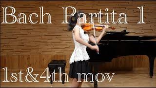 J.S.Bach Partita No.1 I.Allemanda&IV.Double(Presto)