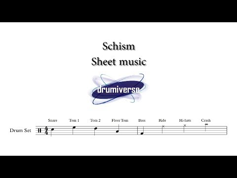 Schism by Tool - Drum Score (Request #50)