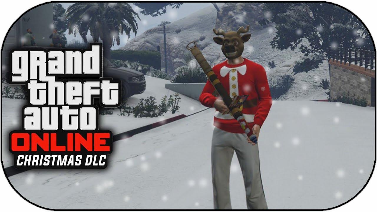 GTA 5 Online Snow DLC Snowball Fights! GTA Online Christmas DLC ...