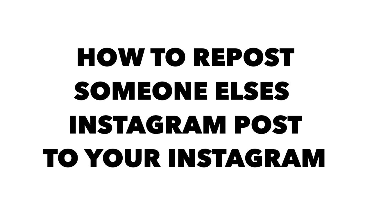 How do you post someone elses picture on instagram