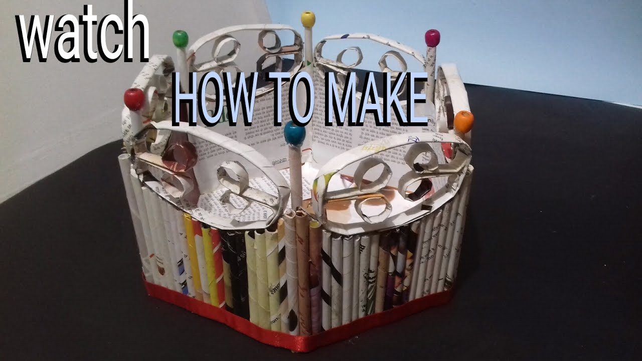 How To Make Newspaper Basket Best Out Of Waste 5 Mint