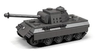 Lego WWII Panther tank Instructions