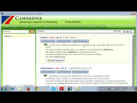 How to use Cambridge Advanced Learner's Dictionary