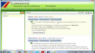 How to use Cambridge Advanced Learner