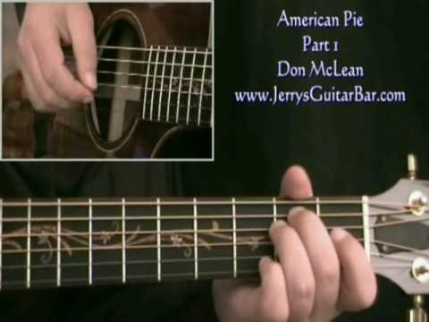 How To Play Don McLean American Pie ('Solo' version - intro only)